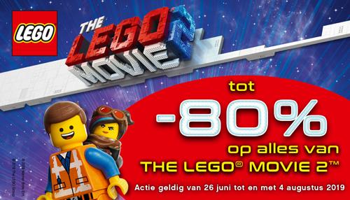 80% Korting op alles van THE LEGO MOVIE 2