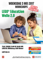 BRICKshop Workshop Aankondiging WeDO Mini Milo 3MEI 250px